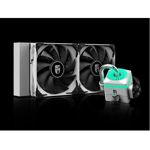 Deepcool raff. liquido captain 240x white dp-gs-h12-ct240xr-wh