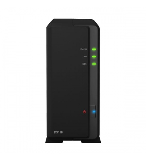 Nas synology ds118 1hd 3.5/2.5 ram 1gb 1p lan rj45 2p usb