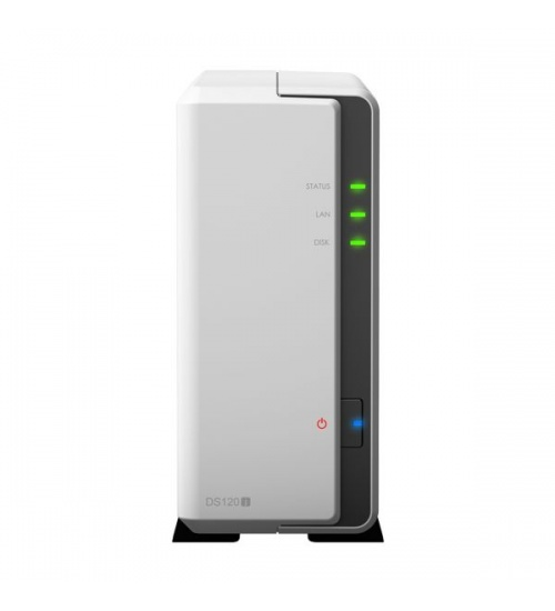 Nas synology ds120j 1 x 3.5/2.5 sata hdd 512 mb 1 x gigabit (rj-45)