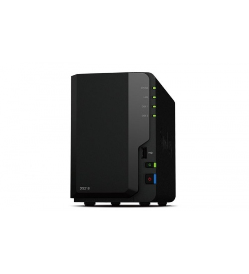 Nas synology ds218+ 2hd 3.5/2.5 ram 2gb 1p lan rj45