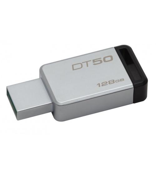 Pen drive 3.1 128gb dt50 kingston silver/nera