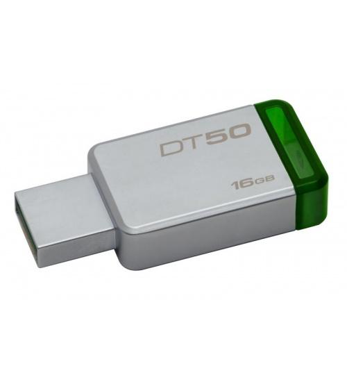 Pen drive 3.1 16gb dt50 kingston silver/verde