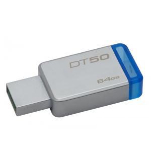 Pen drive 3.1 64gb dt50 kingston silver/blu