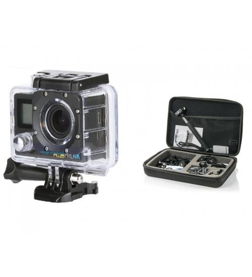 Action camera goclever dvr pro 4k plus professional set
