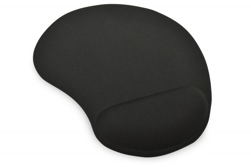 Tappetino mouse pad silicone black poggiapolso