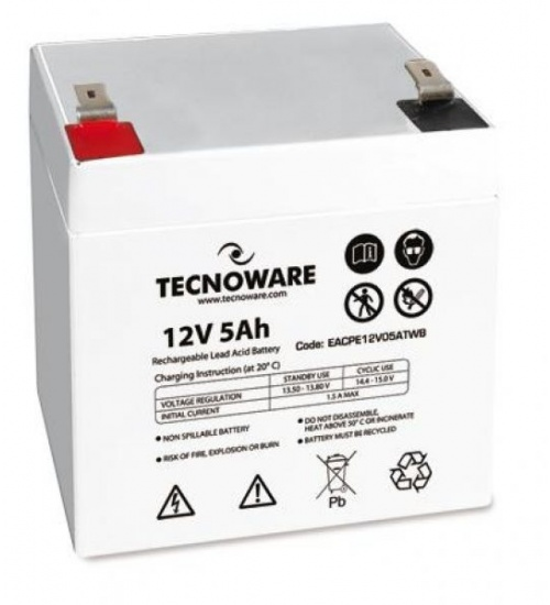 Batteria ups tecnoware 12vdc 5ah high ermetica al piombo bulk