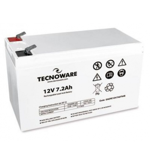 Batteria ups tecnoware 12vdc 7.2ah high ermetica al piombo bulk