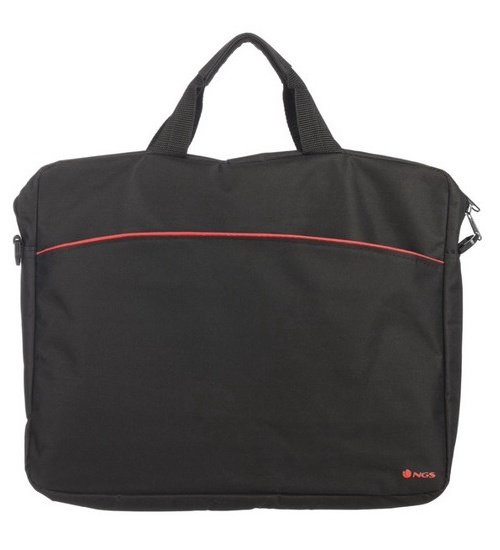 ngs borsa notebook enterprise in nylon 15.6 color nero & rosso