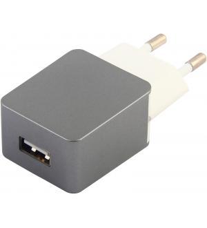 Estuff home Carica batteria 1 usb 1a, grey
