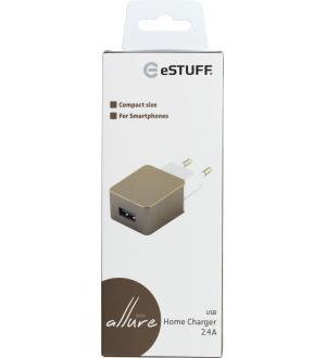 Estuff home Carica batteria 1 usb 2.4a gold
