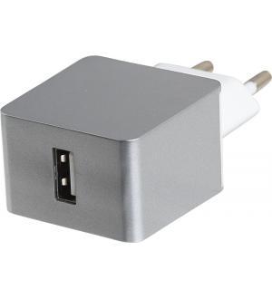 Estuff home Carica batteria 1 usb 2.4a grey