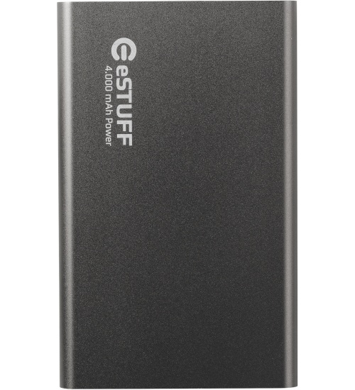 Estuff power bank 4.000mah space grey