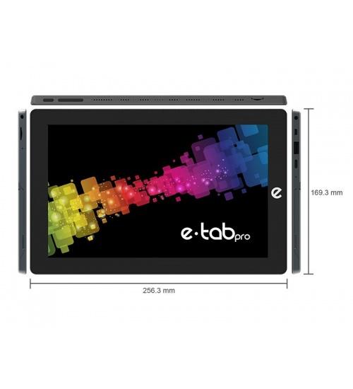 Tablet e-tab pro 10,1 wifi w10pro qc2.6/4gb/64+64gb/5mp/fhdips/hd600
