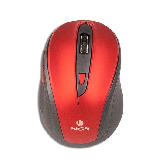 Ngs mouse evo mute red wireless ottico ean 8435430609905