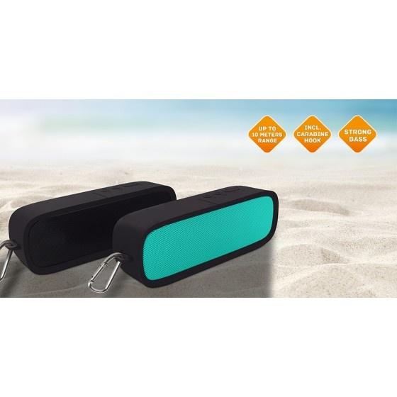 Fantec novi f20 bluetooth speaker black 6w con protezione in gomma
