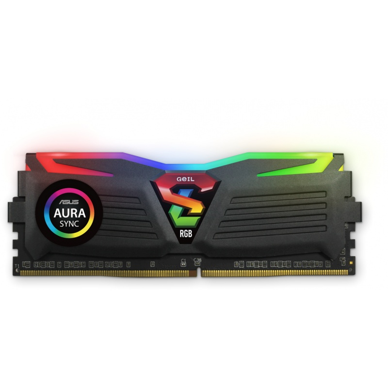 Geil 16gb(8gbx2) pc4-24000 3000mhz super luce black rgb sync 16-18-18-36 - amd ryzen edition