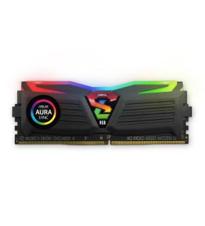Geil 32gb(16gbx2) pc4-24000 3000mhz super luce black rgb sync 16-18-18-36 - amd ryzen edition