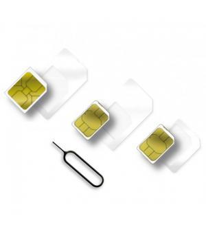 Adattatore scheda sim (4 in 1) nano-sim, micro-sim e sim bianco