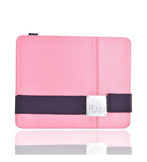 Iluv icc805 pnk v.1.1 ipad textile case with band clip for ipad wi-fi 3g/wi-fi
