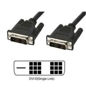 Cavo monitor dvi digitale m/m single link 1,8m (dvi-d)