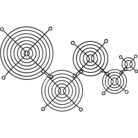 Inline griglia in metallo, 120x120mm, nera