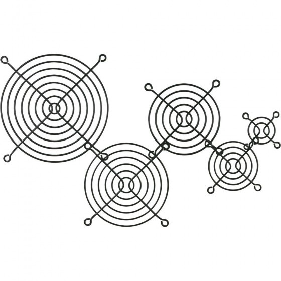 Inline griglia in metallo, 140x140mm, nera