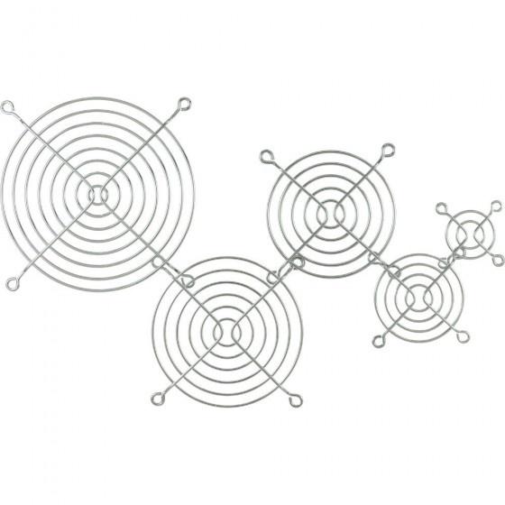 Inline griglia in metallo per ventole da 92x92mm, cromata