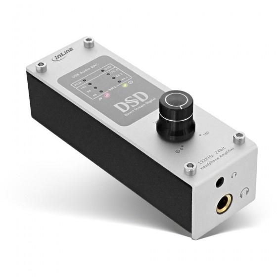 Inline ampusb hifi dsd amplificatore cuffie, usb digital audio converter, 192khz/24-bit