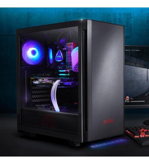 Adata xpg case mid.t invader black argb alluminio vetro