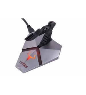 Mouse bungee taurus mb01 - tendifilo antrigroviglio con hub 3xusb3.0 ic, card reader, luce led a 7 colori