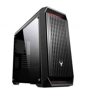 Case mysterious - gaming full tower, 2xusb3, 3x12cm argb fan, side panel temp glass