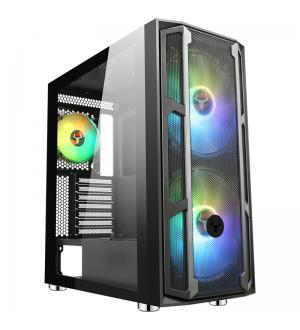 Case majes 20 mesh - gaming full tower, 2x20cm argb fan, usb3, front mesh, side glass