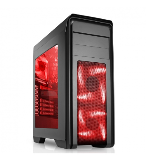 Case cyclone atx usb3.0 12cm fan red