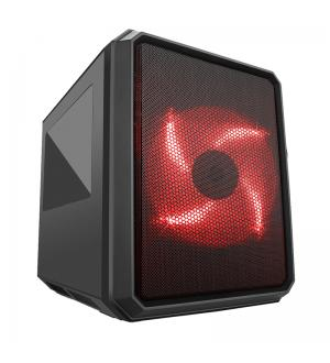 Case qbo 8 - micro atx, usb3, 200mm red fan, 120mm fan, card reader, 3x trasp window
