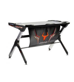 Itek gaming desk gamdes one rgb - struttura acciaio con finiture abs e alluminio, illuminazione led rgb regolabile