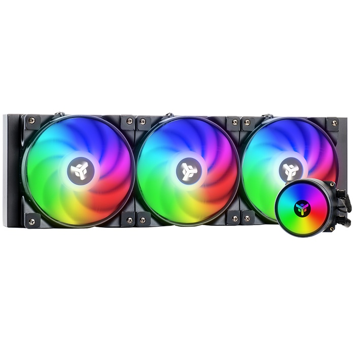 Dissipatore a liquido evoliq 360 argb -  360mm, skt universale, pwm, argb tramite controller o mb