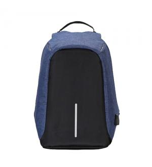Zaino per notebook 15.6 -  tessuto anti graffio, waterproof, anti borseggio, presa usb, nero blu