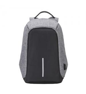 Zaino per notebook 15.6 -  tessuto anti graffio, waterproof, anti borseggio, presa usb, nero grigio