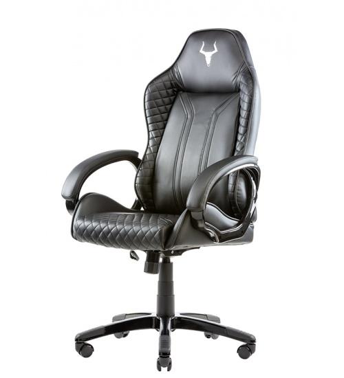 Itek gaming chair taurus p4 -  pelle sintetica pu, nero nero