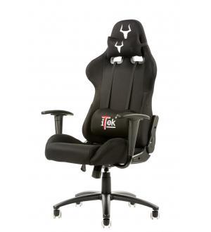 Itek gaming chair taurus s1 -  tessuto, doppio cuscino, nero nero