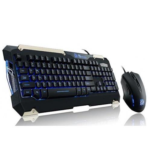 Kit tastiera commander gaming gear combo layout keyboard it retroilluminata blue