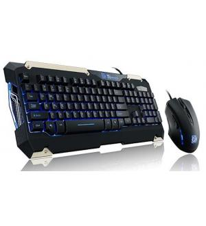 Kit tastiera commander gaming gear combo layout keyboard it retroilluminata blue