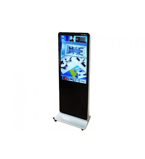 Totem 55 full hd m/touch infrared pc integrato cpu i5/4gb/500gb/wp