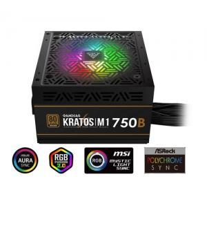 Gamdias alimentatore kratos m1-750b 750w neon-flex rgb 80 plus bronze