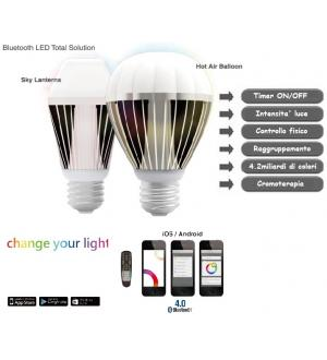 Led hot air balloon 9.5w bluetooth 4.0 rgb
