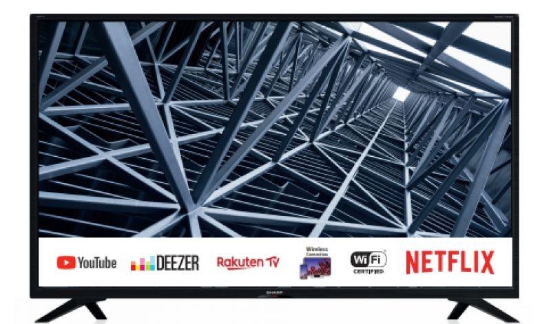 Tv 32 sharp italia hd smart wifi hdmi vesa dvbt2 dvbs2 harman kardon
