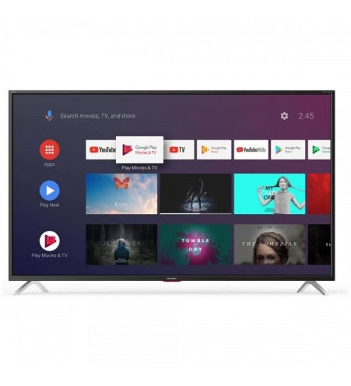 Tv 55 sharp italia black 4k smart 3hdmi android 9 harman kardon