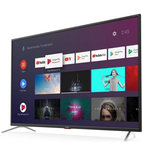 Tv 65 sharp italia black 4k smart 3hdmi android 9 harman kardon