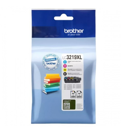 Ink brother lc3219xlvalbp nero/ ciano/giallo/magenta mfc-j4620dw