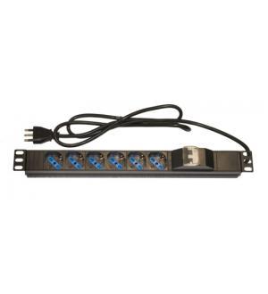 Armadio rack multipresa 6 prese 19 tripolari/schuko magnetotermica
